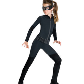 Black Catwoman Dress-Up Set-Girls