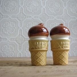 Vintage Ice Cream Salt and Pepper Shakers