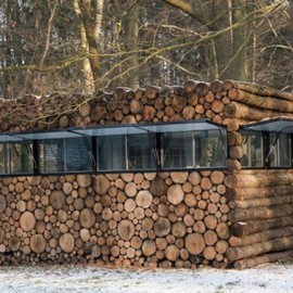 Piet Hein Eek Architect - Tree-Trunk Garden House, Hilversum, The Netherlands
