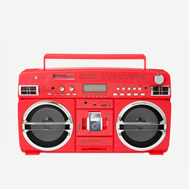 LASONIC - I931X NEW BOOMBOX I-POD/I-PHONE DOCK RED