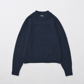 Bloom & Branch - Phlannel - Womens Lamb's Wool Crew Neck Knit Navy