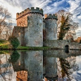 Shropshire, England - Ancient Whittington Castle