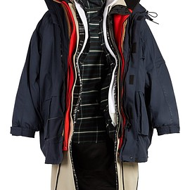 BALENCIAGA - Oversized layered parka coat