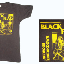 vintage black flag shirt