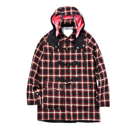 WHITE MOUNTAINEERING - GORE-TEX WOOL NYLON CHECK DUFFLE COAT