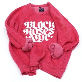 BLACK ROSES NYC x CHARI & CO NYC - VICTORY SWEATSHIRT TRUE RED