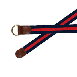 Barrons Hunter - Navy-Red D Ring with Leather Trim