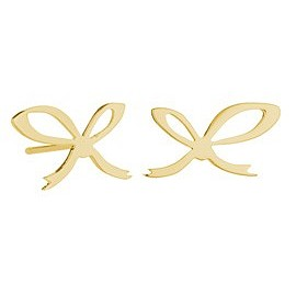 Tatty Devine - A Knot To Help Remember Earrings - 18ct Gold Plated
