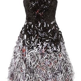 Prabal Gurung - SS2015 Embellished tulle and silk dress