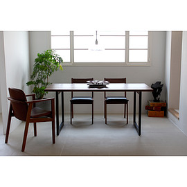 Karf - Knot Dining table / Walnut