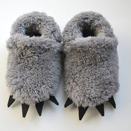 RESERVED for Ashley   -  Baby Wolf  Slippers - Toddler