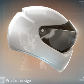 Motorbike helmet with navigation