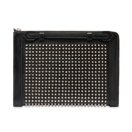 Christian Louboutin - Flat clutch spikes