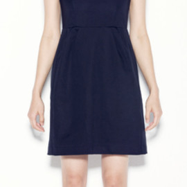 YOKO CHAN - BONDING NO-SLEEVE TUCK DRESS