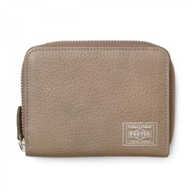 "HEAD PORTER - ""CALVI"" WALLET (M) GREY"