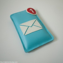 rabbitsmile - iPhone Case / iPhone 4 Case / iPhone 4 Cover / iPod Case - Mail / Envelope Icon Application