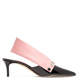 Christopher Kane - Latex-strap patent-leather slingback pumps