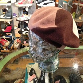 "Kangol - 「<used>1980s Kangol BELLET CAP brown/beige""made in ENGLAND"" 3800yen」完売"