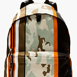 GIVENCHY - Mint & orange printed CAMO BACKPACK