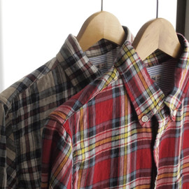 GAIJIN MADE - HERRINGBONE CHECK LS SHIRT