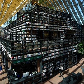 Book Mountain A stunning - glass-enclosed library