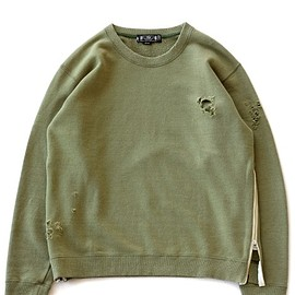 bal - Damaged Crewneck (olive)