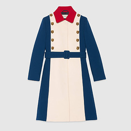 GUCCI - CRUISE 2017 Wool a-line coat