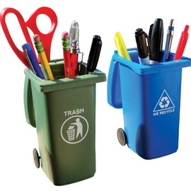 Big Mouth Toys - The Mini Curbside Trash and Recycle Can Set