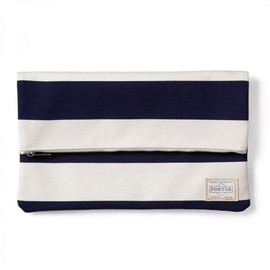 "HEAD PORTER - ""BRIGHTON"" CLUTCH BAG NAVY"