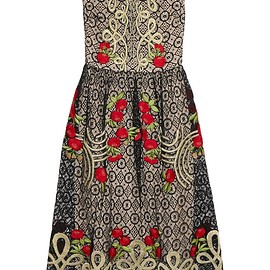Temperley London - Antila embroidered cotton-blend lace midi dress