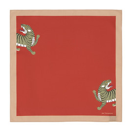 JIM THOMPSON - Mythical Tiger Cotton Napkin - Red/Beige