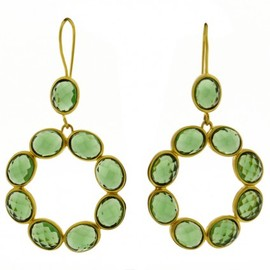 LUCAS JACK LONDON - Maria Earrings Emerald Green