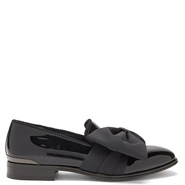 Alexander McQueen, MATCHESFASHION UK - Bow-front patent-leather loafers
