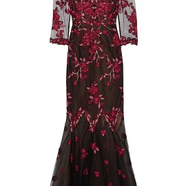 Marchesa Notte - Embroidered tulle gown