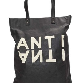 """5preview - Canvas/leather totebag """"ANTI""""."""