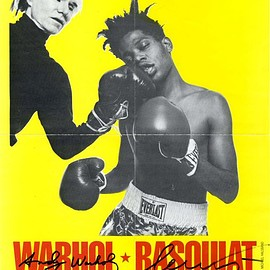 Andy Warhol and Jean-Michel Basquiat - Palladium Presents: Warhol * Basquiat Paintings [Variation #2]