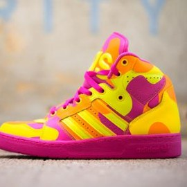 adidas originals - ADIDAS ORIGINALS BY JEREMY SCOTT JS INSTINCT HI SLIME/VIVID YELLOW S13/LIGHT ORANGE