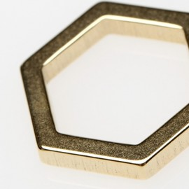 The Boyscouts - Hexagon Cosmic Ring in Gold
