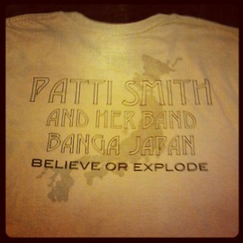 Patti Smith - Banga tour in japan Tee