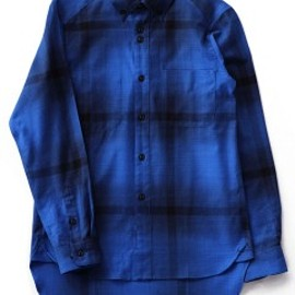 bal - Big Plaid Long Tale Shirt (blue)
