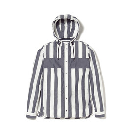 White Mountaineering - WM1473121 COTTON YARN DYED STRIPE HOODED SHIRT
