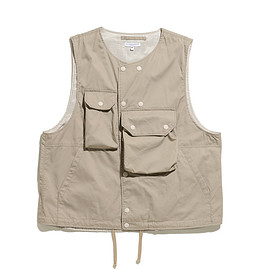 ENGINEERED GARMENTS - Cover Vest-High Count Twill-Khaki