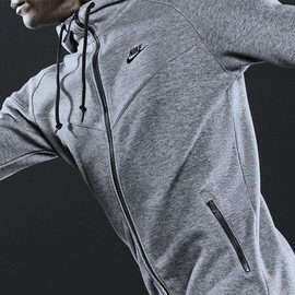 Nike Sportswear - AW77 Full-Zipped Hoodie - Heather Grey