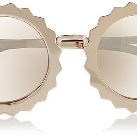 HOUSE OF HOLLAND - House of Holland Seeing Stars round-frame metal mirrored sunglasses