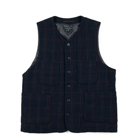 ENGINEERED GARMENTS - LDT Vest-HB/Windowpane-Navy