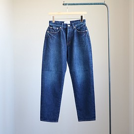 YAECA - Denim Pants - wide tapared / 12.5oz used wash #navy