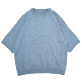 crepuscule - カモメ Knit T-shirt L/Blue