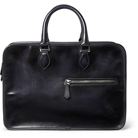 Berluti - Un Jour Polished-Leather Briefcase