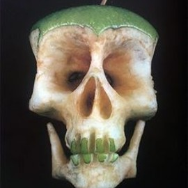 green apple skull