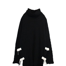 RICE NINE TEN - OFF-TURTLE WAFFLE KNIT (BLACK)